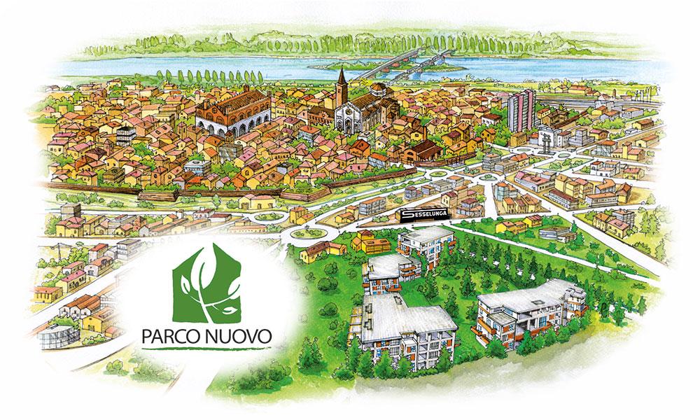 Parco Nuovo - Disegno Cartina